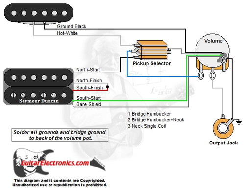 1 Humbucker/1 Single Coil/3-Way Toggle/1 Volume/00