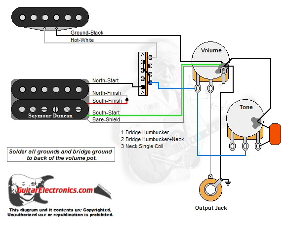 1 Humbucker1 Single Coil3way Lever Switch1 Volume1 Tone00. 1 Humbucker1 Single Coil3way Lever Switch1 Volume1 Tone00. Wiring. Blade 3 Way Switch Wiring Diagrams Guitar At Scoala.co