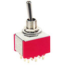 2-Way 3-Pole On/On Mini Toggle Switch