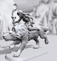 Hero Forge mounted model