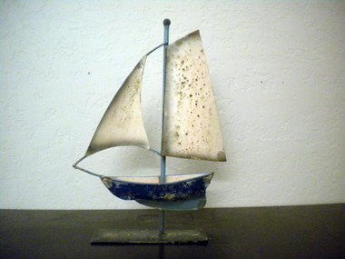 Sailboat Antique Style  on a Stand #15188