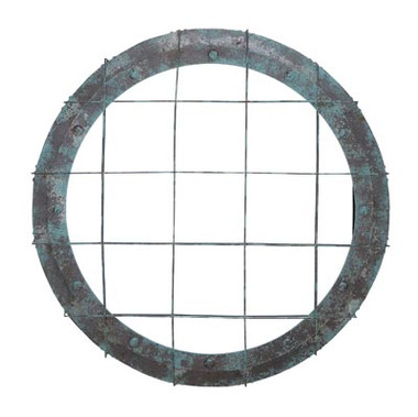 Large Antique Style Porthole Mirror #14208