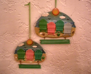 Beach Family Ornament For Personalization #14251