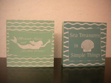 Decorative Coastal Box Signs #15206