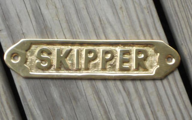Brass Skipper Boat Sign #4578