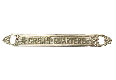 Crews Quarter Brass Sign  Nautical Seasons