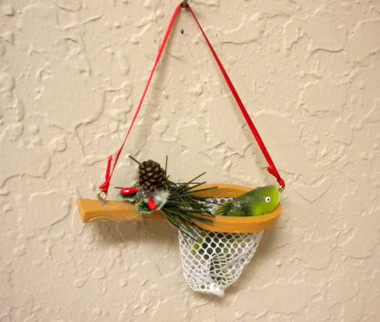 Fishing Net With Fish Christmas Ornament #14261