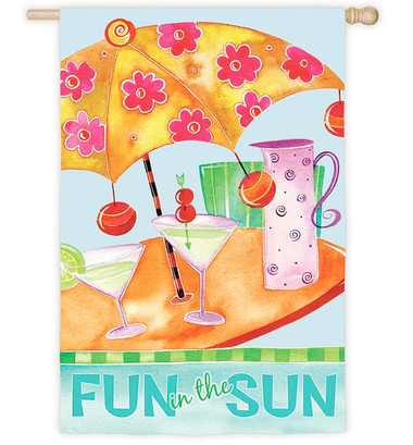 Beach Umbrella Martini Design Flag #7509