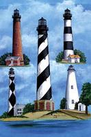 Cape Hatteras Lighthouse  Garden Flag  Nautical Seasons