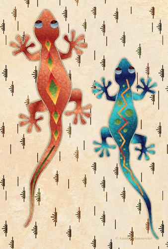 """Gecko Garden Size Flag 12"""" X 18"""" #15127"""