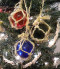 Glass Float Ornaments Set of 3  Nautical Seasons