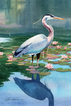 Blue Heron Garden Flag Nautical Seasons