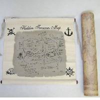 Hidden Treasure Map With Box  Nautical Seasons