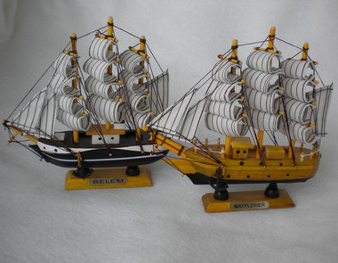 "Model Ships Mayflower & Belem 6"" Choose Design  Nautical Seasons"