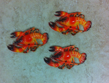 Mini Red Lobster Decorations Set of 3 #2464