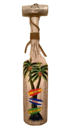Wood Paddle Plaque with Palm Trees #15103