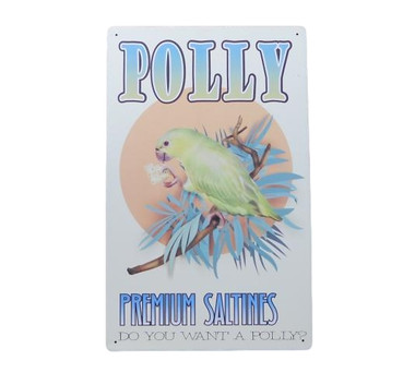 Polly Parrot Tin Sign  Nautical Seasons