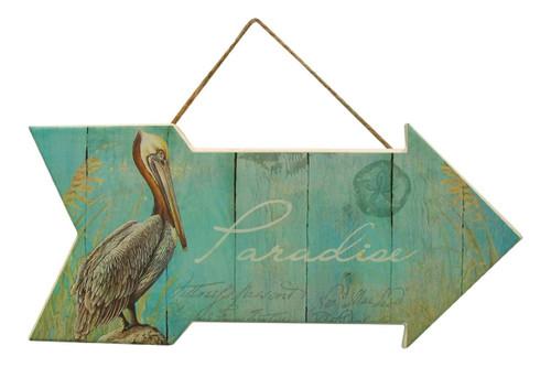 Paradise Pelican Sign  Nautical Seasons
