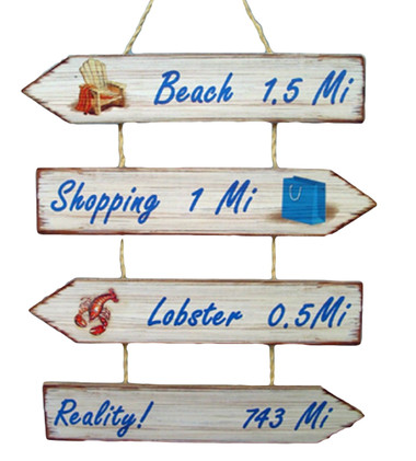 Reality Beach Pointer Sign #14299