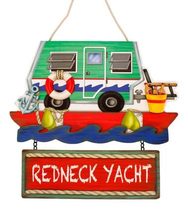 Redneck Yacht Club RV  Camper Trailer Sign