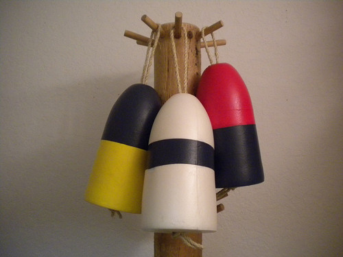 Decorative Hand Painted Buoy  Nautical Seasons