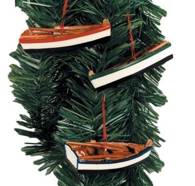 Row Boat Christmas Ornaments Nautical Seasons