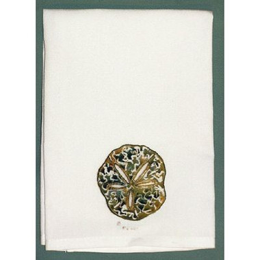 Sand Dollar Hand Towel  Nautical Seasons