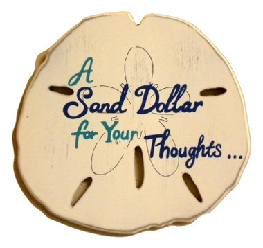 "Wall Plaque ""Sand Dollar For Your thoughts"" #15104"