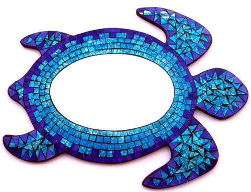 Sea Turtle Mosaic Mirror Nautical Seasons  866-888-2628