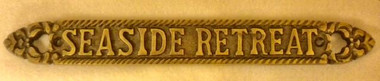 Seaside Retreat Brass Sign  Nautical Seasons