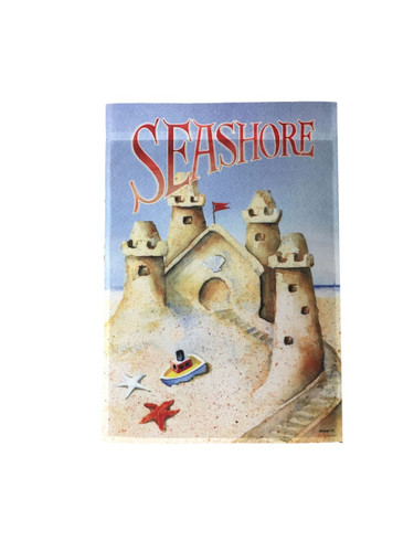 Seashore - Sand Castle Garden Decorative Flag #2595 Nautical Seasons