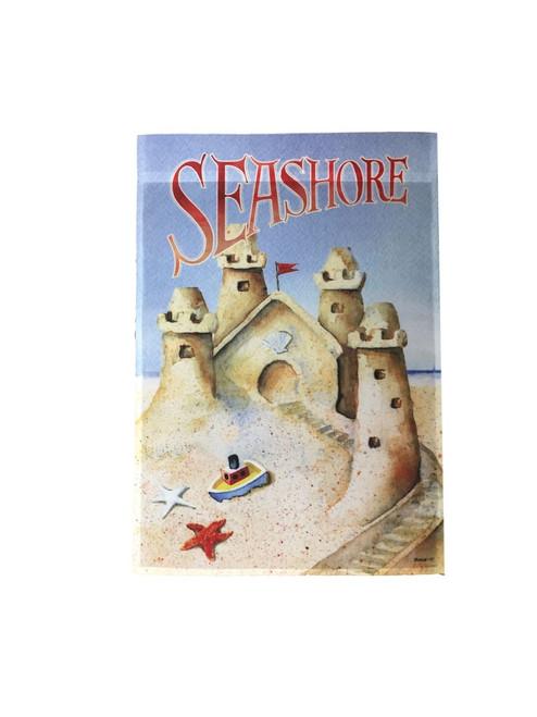 Seashore - Sand Castle Garden Decorative Flag #2595 Nautical Seasons