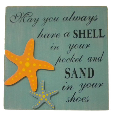 Shell In Your Pocket Sign Nautical Seasons