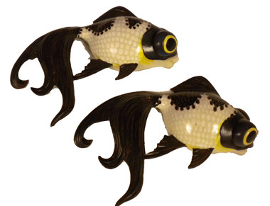 Koi Fish Black Gold Wall Decoration Nautical Seasons