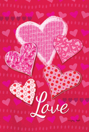Heart Valentine Flag Nautical Seasons