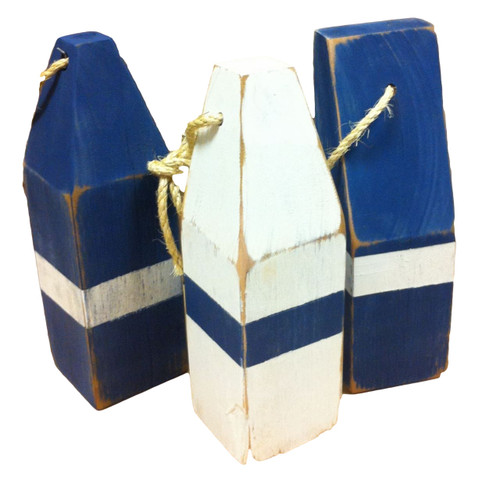 Vintage Style Blue Buoys  Nautical Seasons