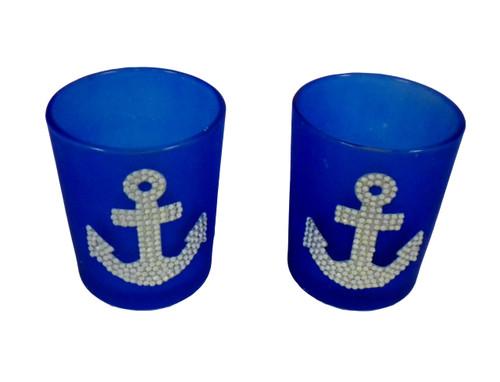 Anchor Tea Light Holder  Nautical Seasons