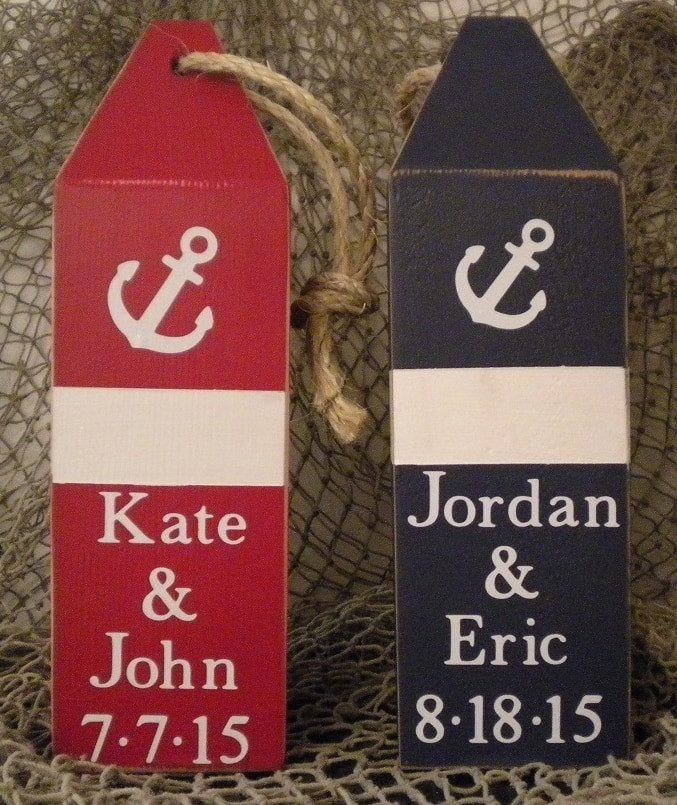 Keepsake Wedding Gifts: Personalized Wedding Keepsake/Gift Buoy #15223