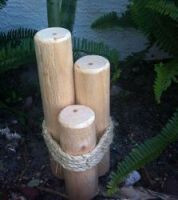 Wood Piling Pier Post Table Decoration #2373