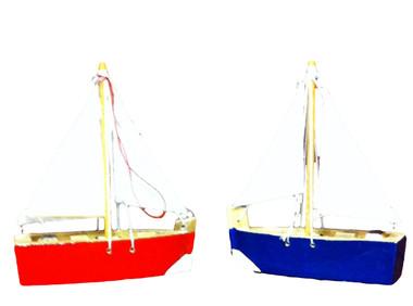 Wood Sailboat Ornament Party Favor