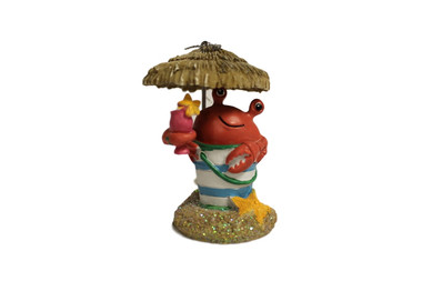 Tiki Crab Christmas Ornament  Nautical Seasons