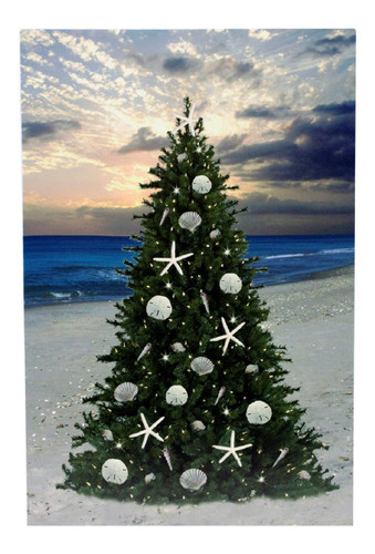 LED Canvas Xmas Tree Nautical Seasons