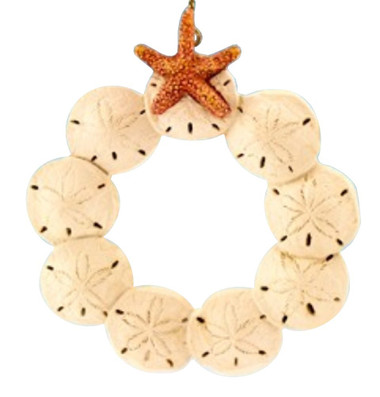 Sand Dollar Wreath Nautical Seasons