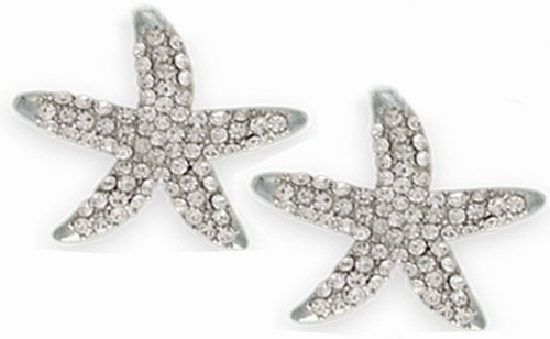 Starfish swarovski Earrings Nautical Seasons
