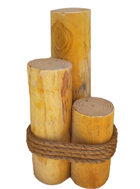 """Thick Wooden Piling 24""""  Nautical Seasons"""