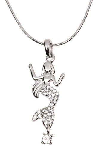 Mermaid Necklace with Crystal Nautical Seasons