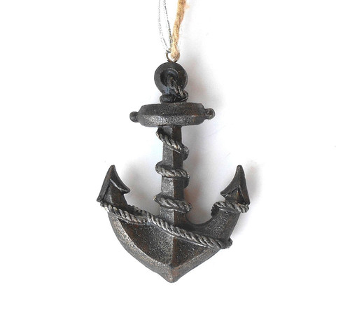 Resin Anchor & rope Ornament Nautical Seasons