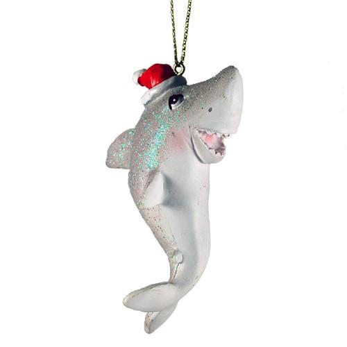 Santa Shark Ornament Nautical Seasons
