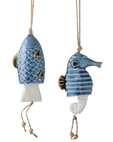 Fish & Seahorse Chime Ornaments