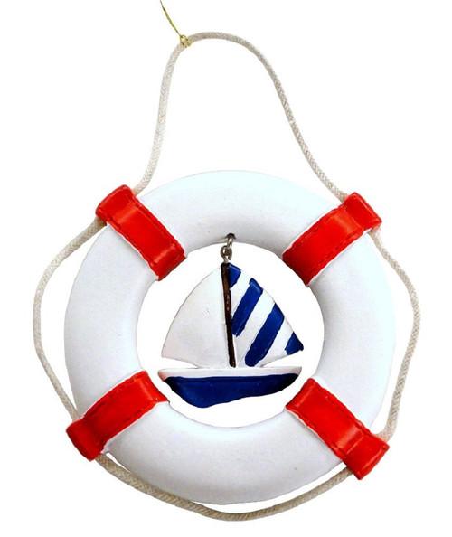 Life Ring w/Sailboat Nautical Seasons